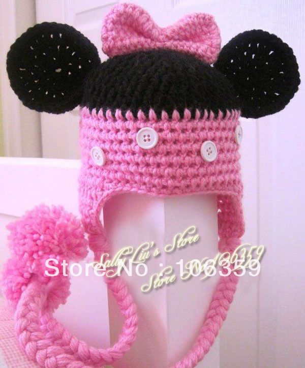 Minnie Mouse Crochet Baby Hat Pattern : Minnie Mouse Beanie Crochet stuff Pinterest