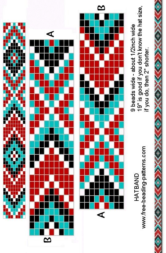 Прямое плетение бисером браслетов