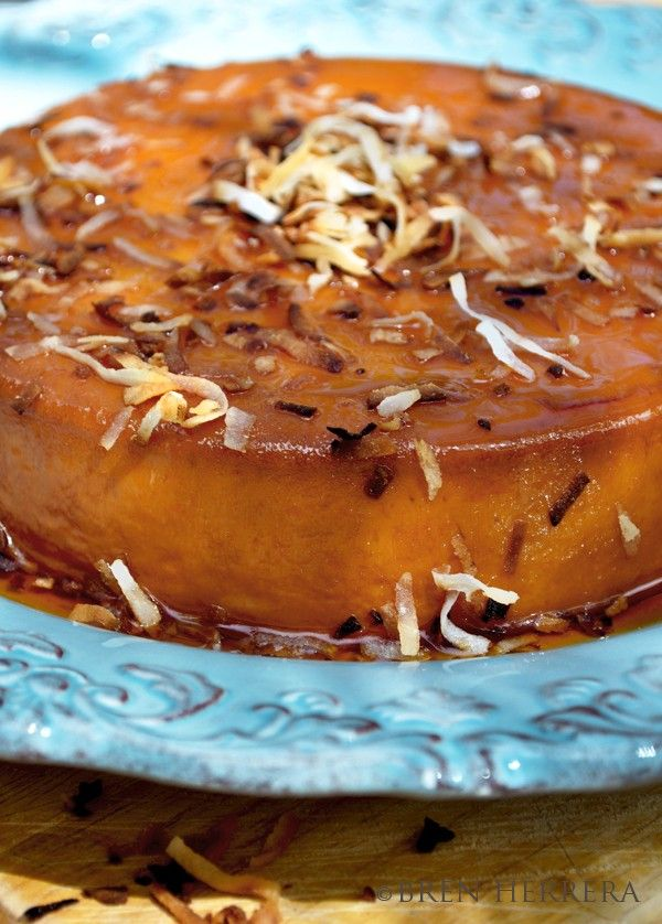 Toasted COCONUT RUM FLAN Recipe | Flanboyant Eats™: Latin Fusion ...