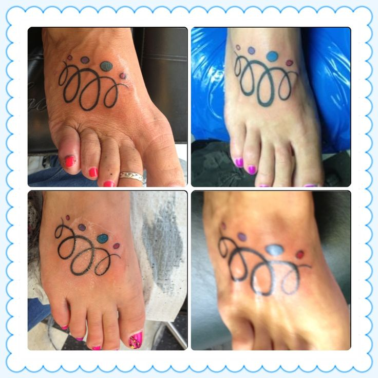Mother daughter sister tattoo with birthstone colors for Tattoos with birthstone colors
