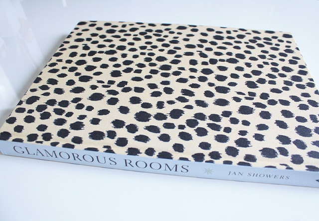 "Leopard skin cover under the dust jacket. Yummy! ""Glamourous Rooms"" by Jan Showers"