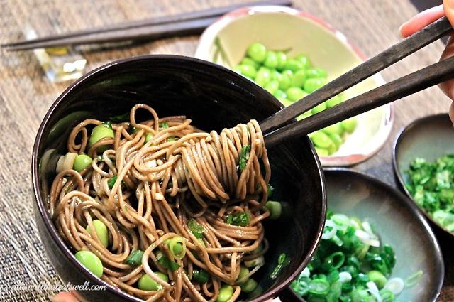 Spicy Sesame-Soy Soba Noodles-Enjoy for a nice, light dinner OR make a ...