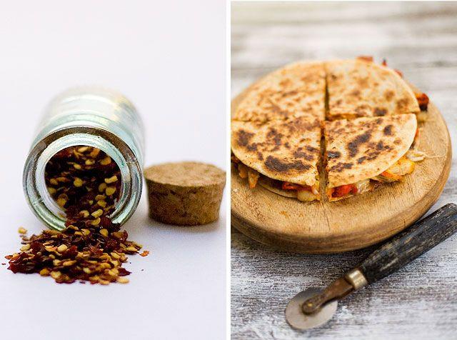 indian-style quesadillas? yes please. | Herbivoracious | Pinterest