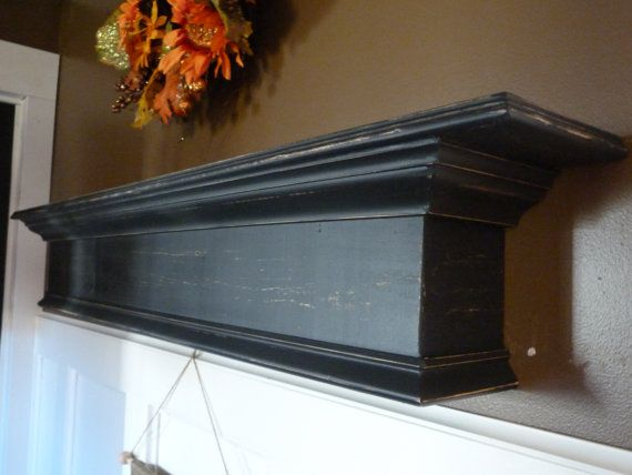 black mantle 48 quot l black shelf mantel floating shelf