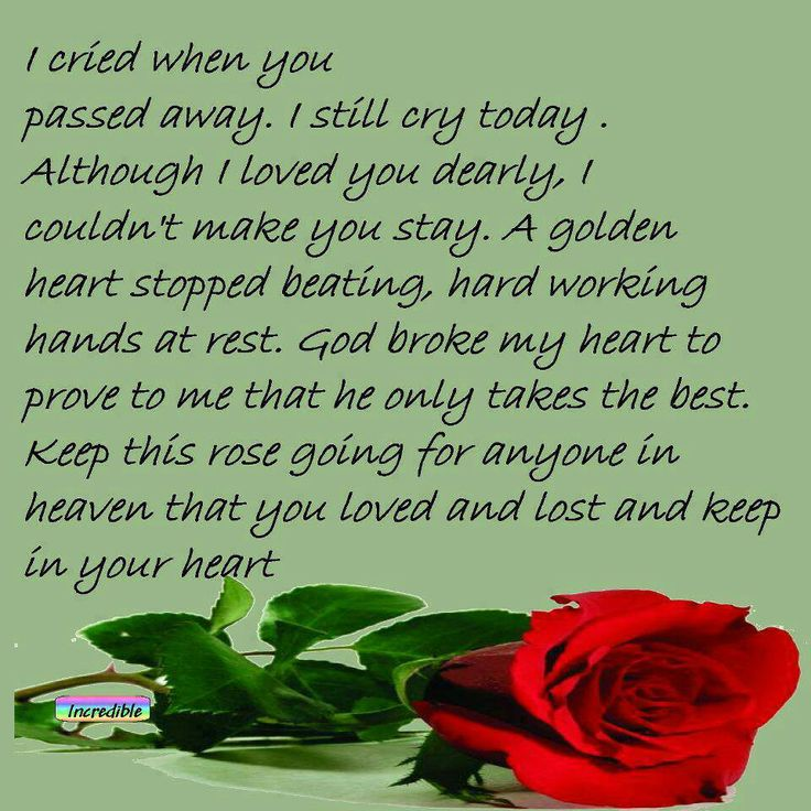 Tribute to an aunt who passed away