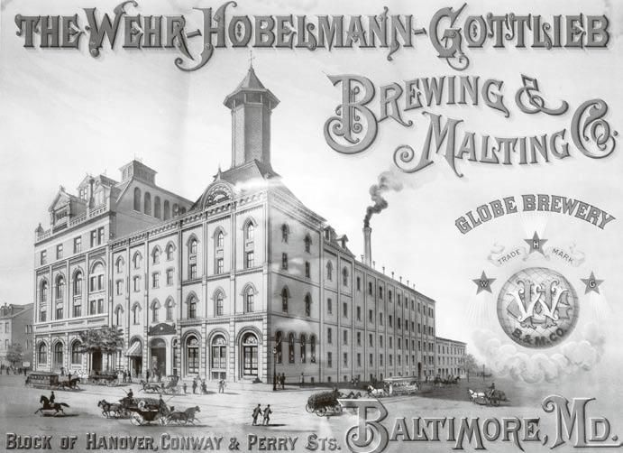 Painting of Wehr-Hobelmann-Gottlieb, an 1881 Maryland malt house and brewery that later became Globe Brewing Company. Courtesy David Donovan Collection. Photo by Edward Brown. Read more at http://tinyurl.com/7bm2v4p