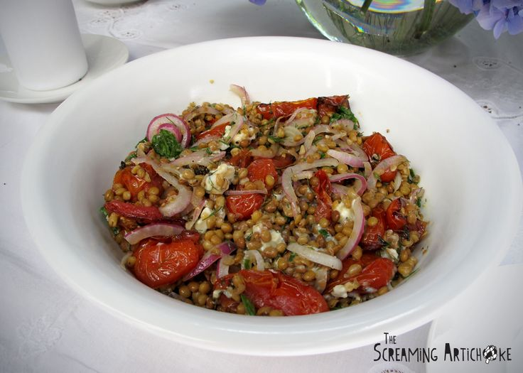 Castelluccio Lentils With Tomatoes And Gorgonzola Recipe — Dishmaps