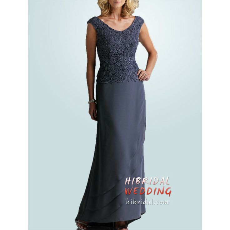 Charcoal Grey Mother of the Bride Dress