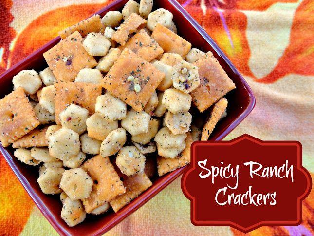 Spicy Ranch Crackers | veronicascornucopia.com