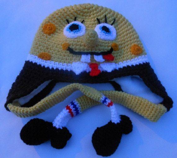 Free Crochet Pattern Spongebob Hat : Spongebob Crochet Hat Pattern