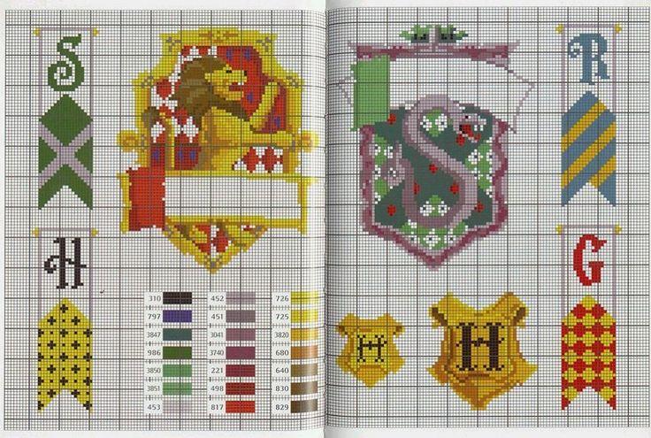 Герб хогвартс схема вышивки 830