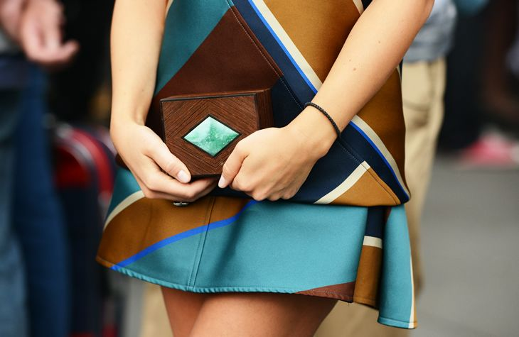 Little wooden clutch bag #JakJill #StreetStyle #Fashion #ClutchBags #Accessories