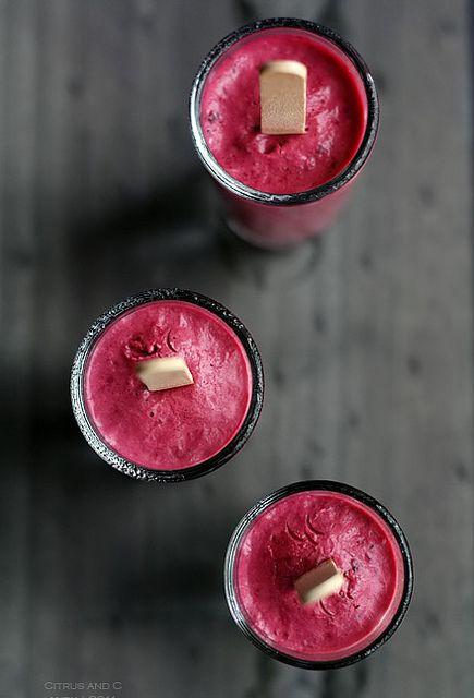 "Blackberry ""Cheesecake"" Yogurt Pops | Frozen Treats | Pinterest"