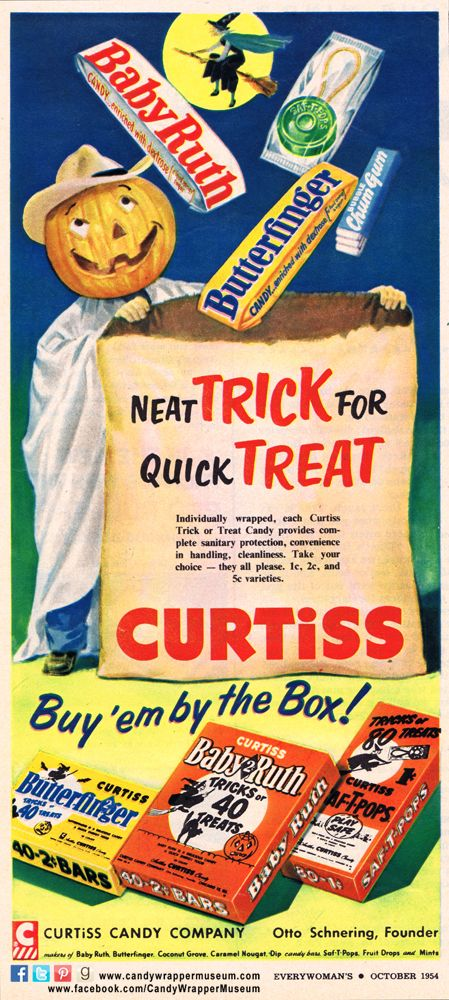 Vintage halloween candy ad the candy wrapper museum pinterest