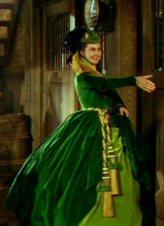 Scarlett O'Hara's green velvet dress | Mad for Velvet... | Pinterest
