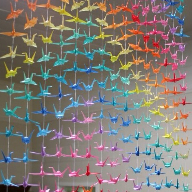origami curtain decor pinterest