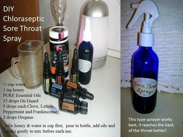 Diy sore throat spray