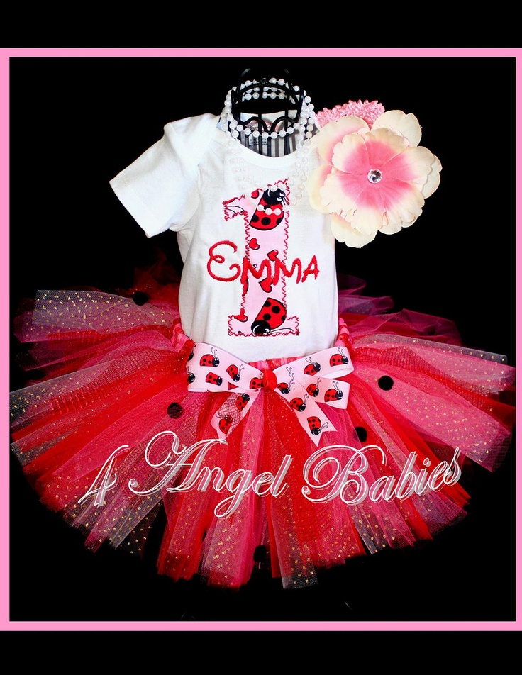 Lady Bug 3 Piece Pink Birthday Party Glitter by 4AngelBabies, $48.95