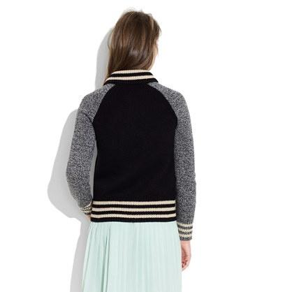 Madewell Letterman Sweater Jacket 12