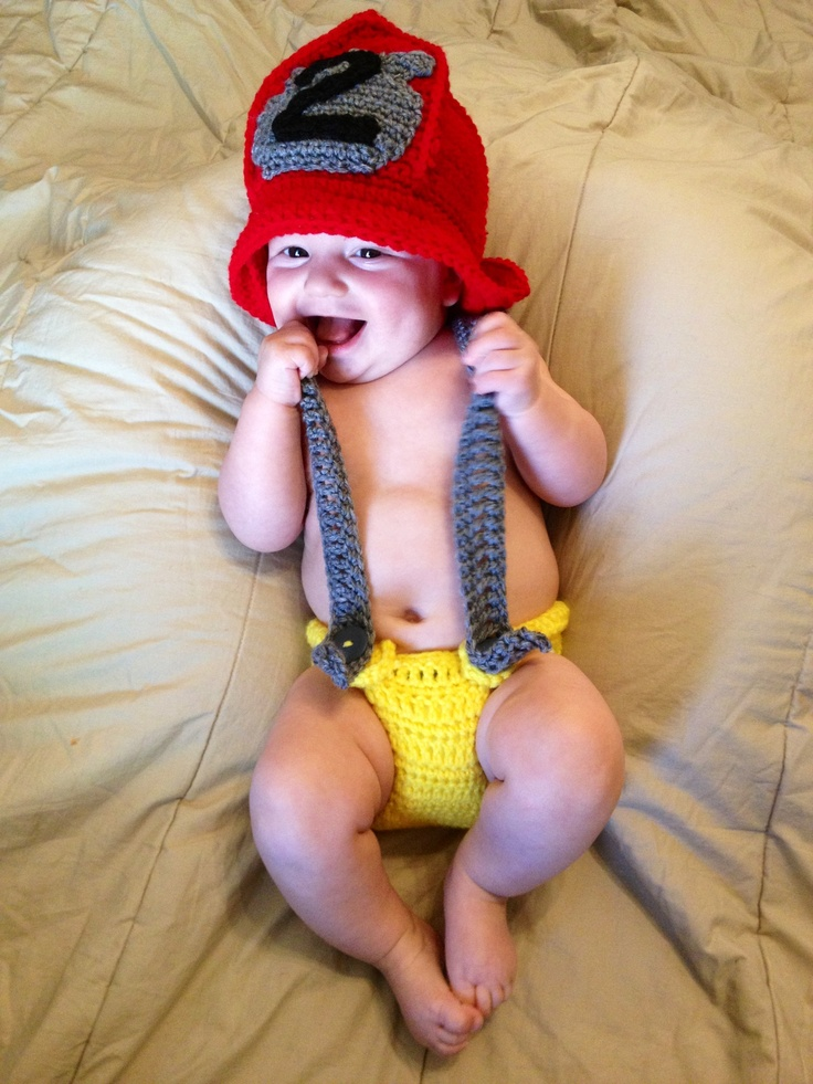 Crochet Patterns For Baby Frocks : Baby crochet fireman outfit crochet for babies and kids ...