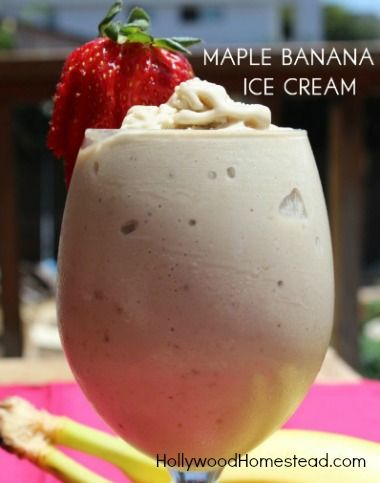 maple banana ice cream: 1 and 1/2 cups banana (about 4 or 5 small ...