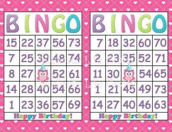 Printable Birthday Bingo Cards C Ile Web E Hkmedin