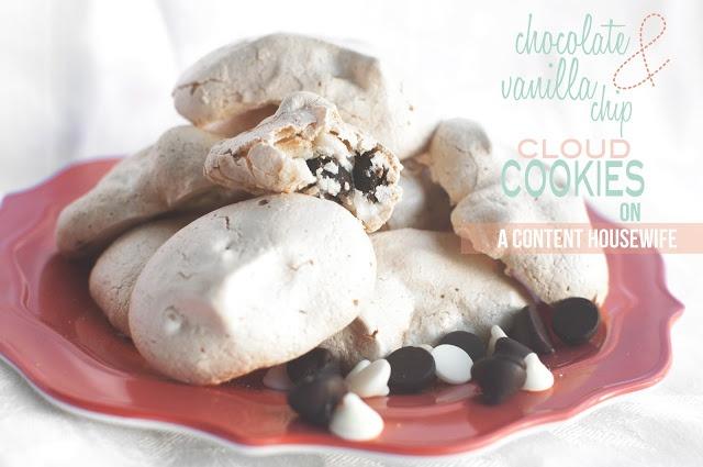 Chocolate & Vanilla Chip Cloud Cookies -