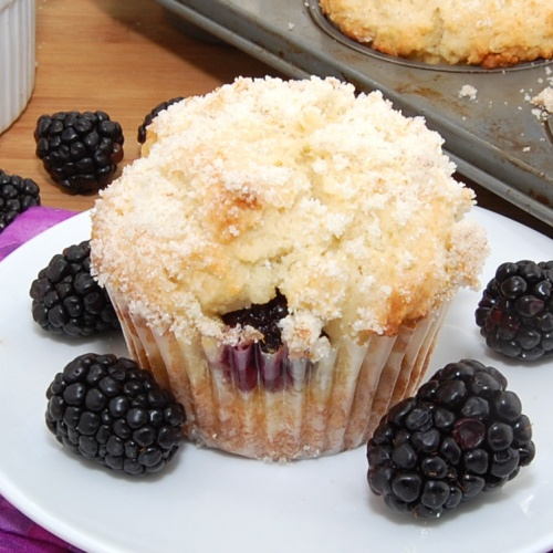 Lemon Ricotta Blackberry Muffins ***VERY moist. Works without lemon ...