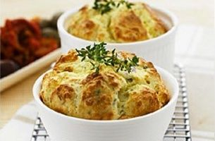 Baked Herbed Ricotta Souffles | Who Likes Cheesecake | Pinterest