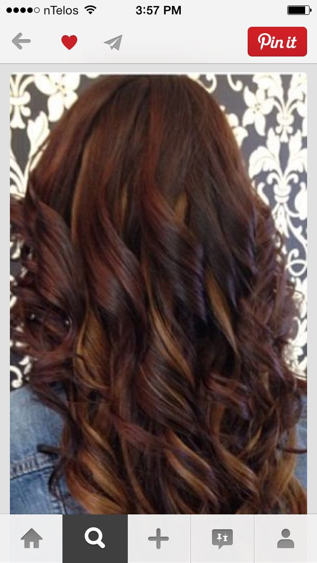 cherry cola red with a carmel | My next hair colors | Pinterest