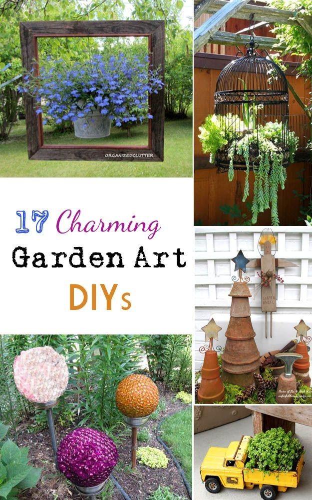 garden art diy gardening pinterest. Black Bedroom Furniture Sets. Home Design Ideas