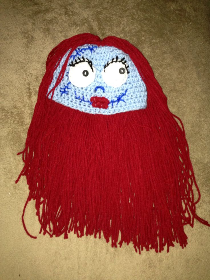 Sally inspired crochet hat with hair by MorganBrynDesigns on Etsy, $25 ...