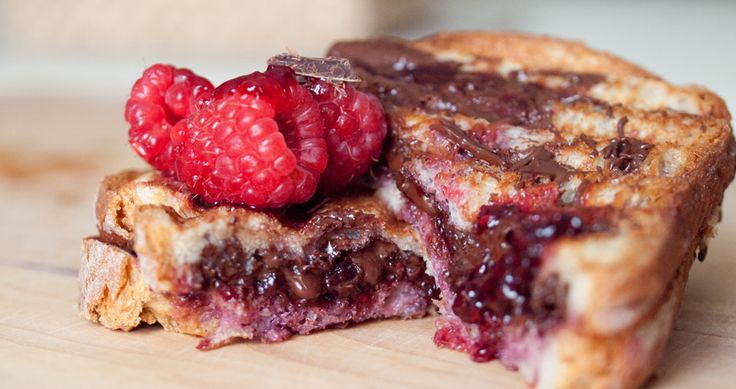 This chocolate raspberry panini is an easy way to make a quick yet ...