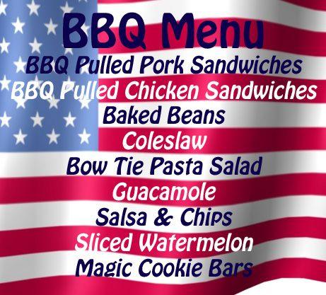 memorial day weekend menu ideas