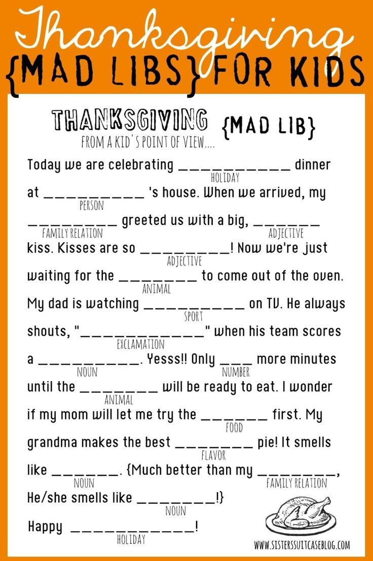 Fabulous image with regard to thanksgiving mad libs printable