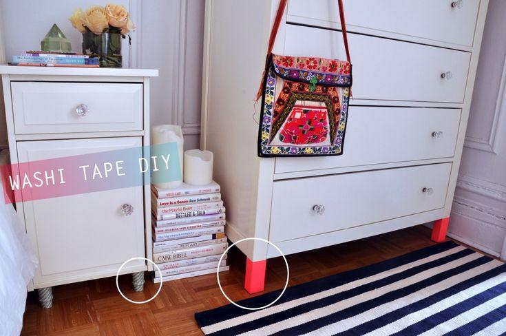 washi tape DIY // dip-dyed furniture // curfuffled.com