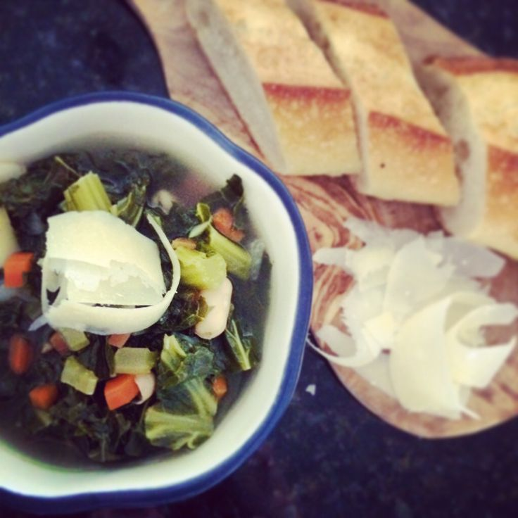 Rustic kale soup | The Skinny | Pinterest