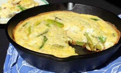 Ham, Asparagus and Goat Cheese Frittata | Tasty Kitchen: A Happy ...