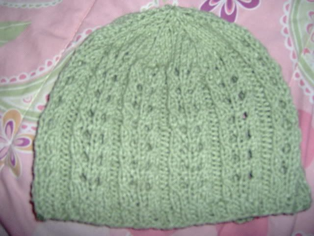 Free Knitting Pattern Lace Hat : Knit Lace Hat knit Pinterest