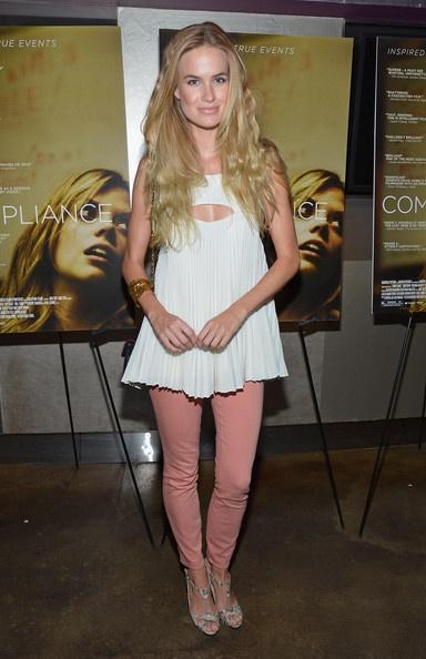 """Compliance"" New York Premiere - Alice Callahan Thompson wearing Hunter Bell Harrison Top."