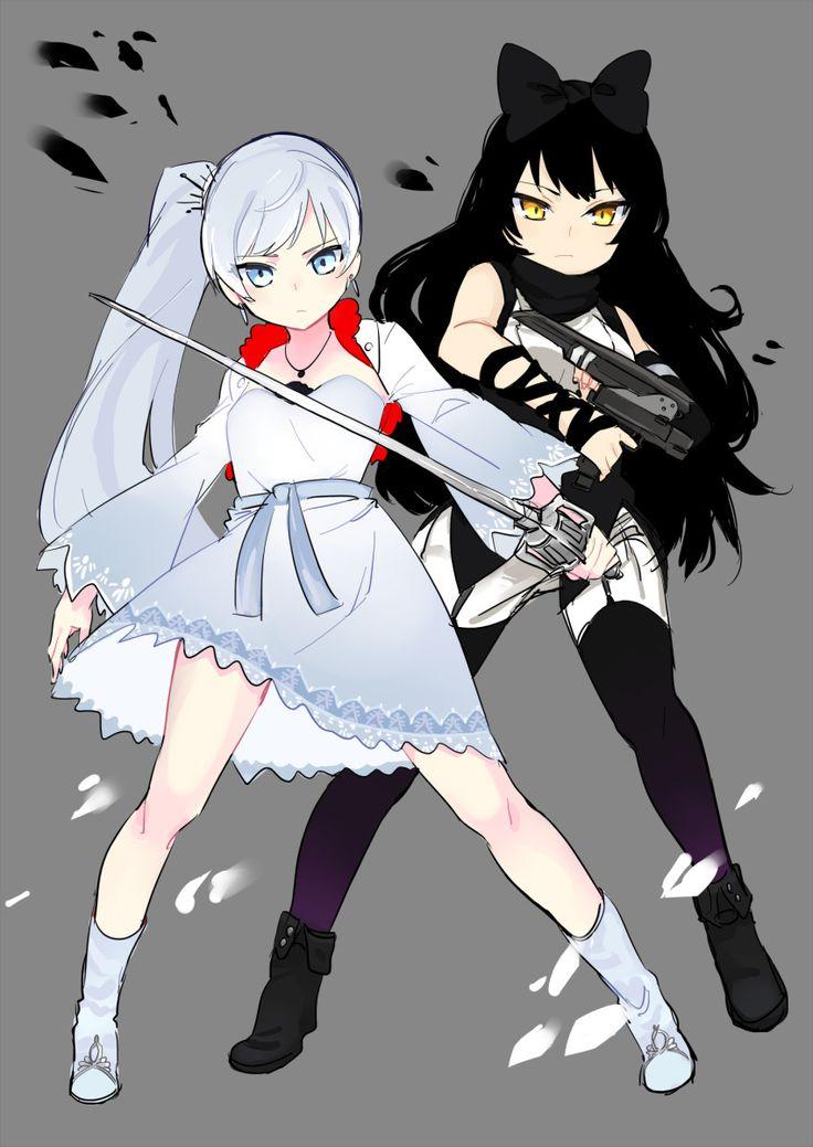 Rwby sword tyaka weapon weiss schnee white hair yellow eyes 1181941