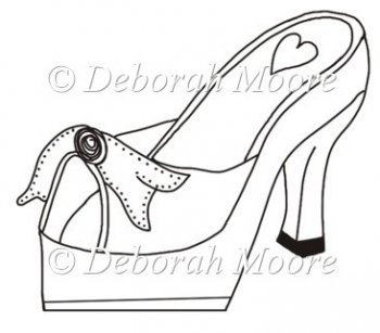 high heel shoe template craft - high heel paper shoe template craft ideas pinterest