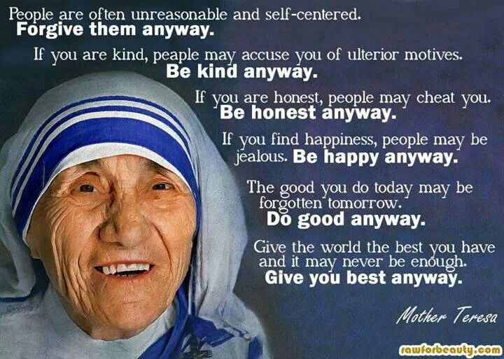 Mother teresa summary