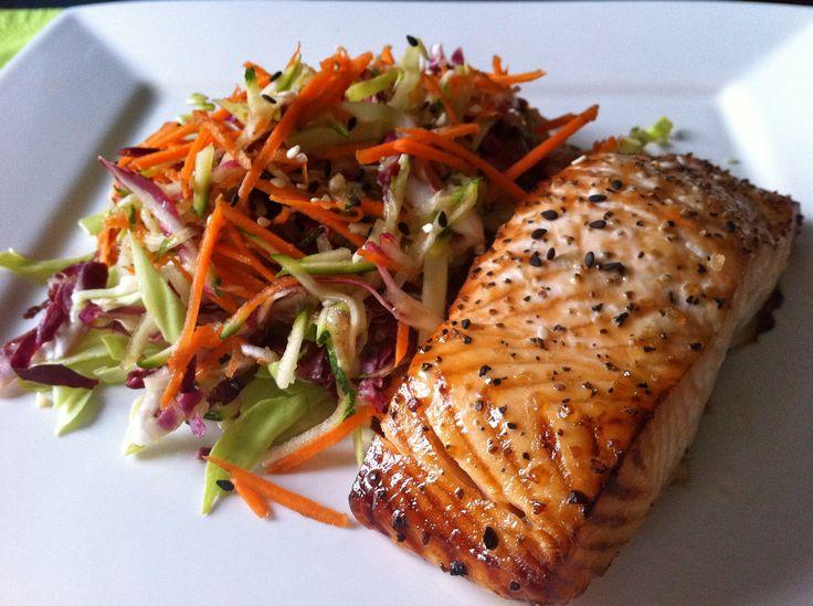 Miso Glazed Salmon•2 Tbsp red miso or 3 Tbsp white miso •2 Tbsp ...
