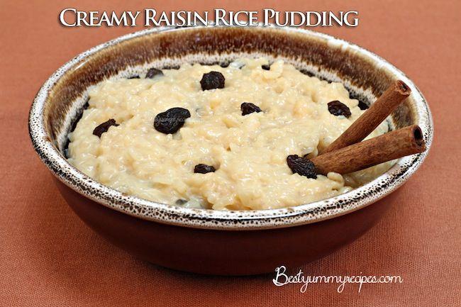 ... Rice Pudding - http://www.thinkarete.com/creamy-raisin-rice-pudding