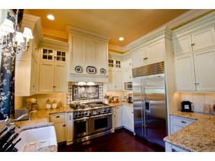 High ceiling high cabinets kitchen decor pinterest for Ceiling high kitchen cabinets
