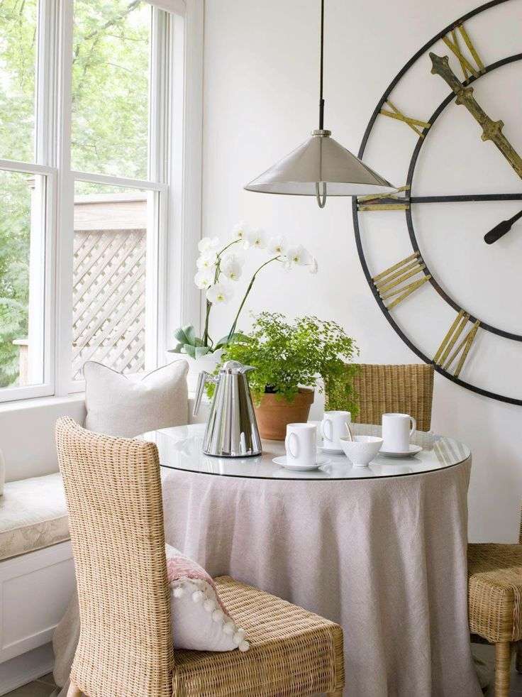 Ikea wicker chairs in breakfast nook by loi thai tone on tone i can