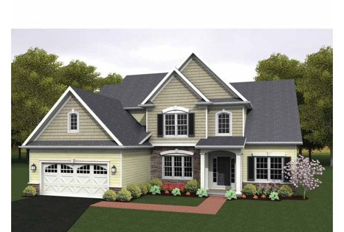 Eplans Colonial House Plan Two Story Great Room 2256 Square Feet