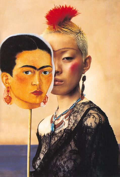 Jenny Shimizu by Ruven Afanador for ELLE Russia 2001