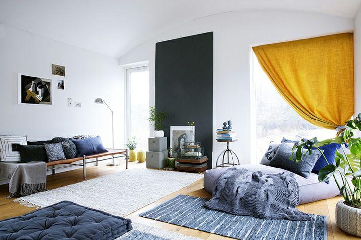 ... woonaccessoires  #vloerkleed #tapijt #blauw #grijs ZOOK.nl